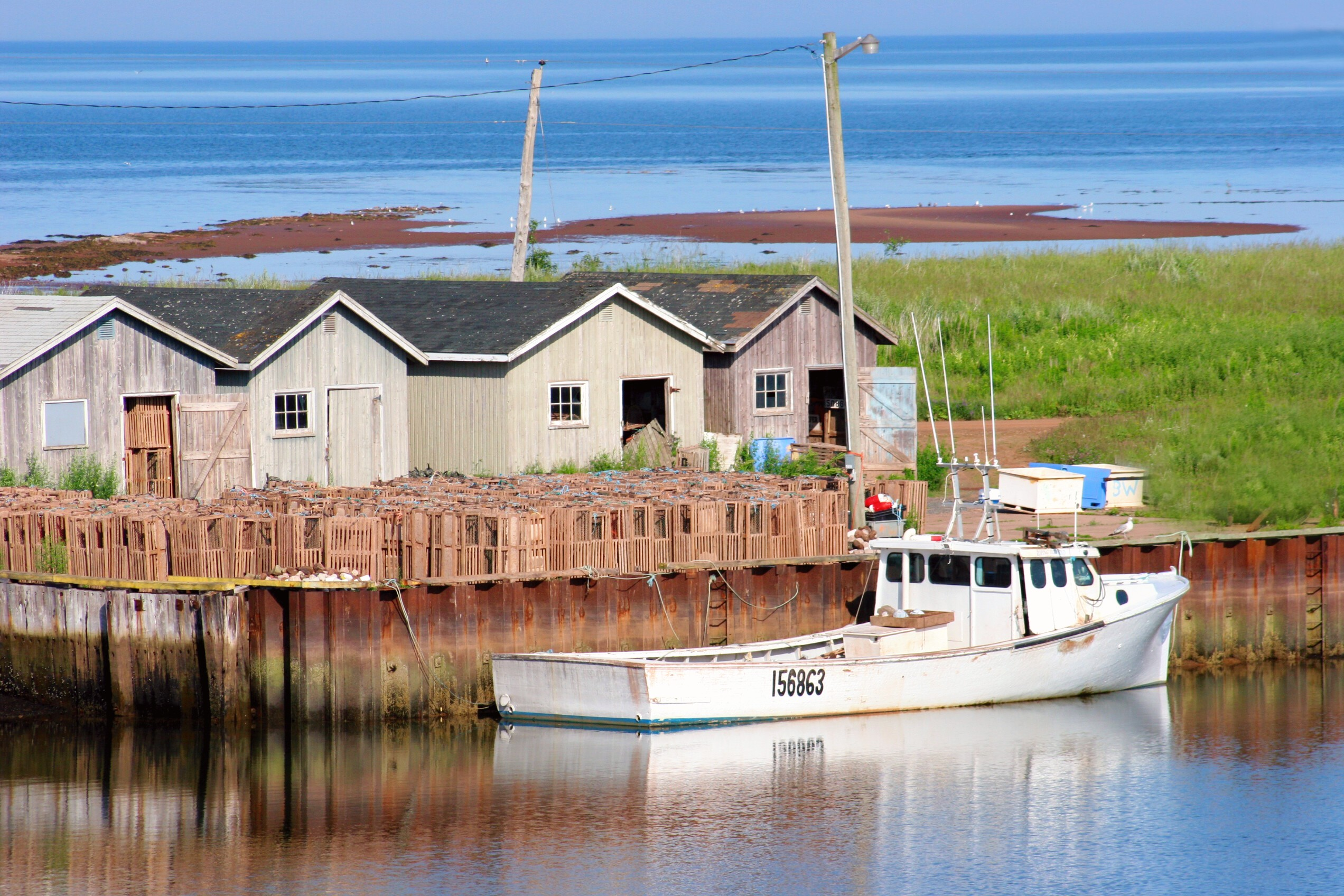 Wood Islands Lobster Traps, PEI.JPG