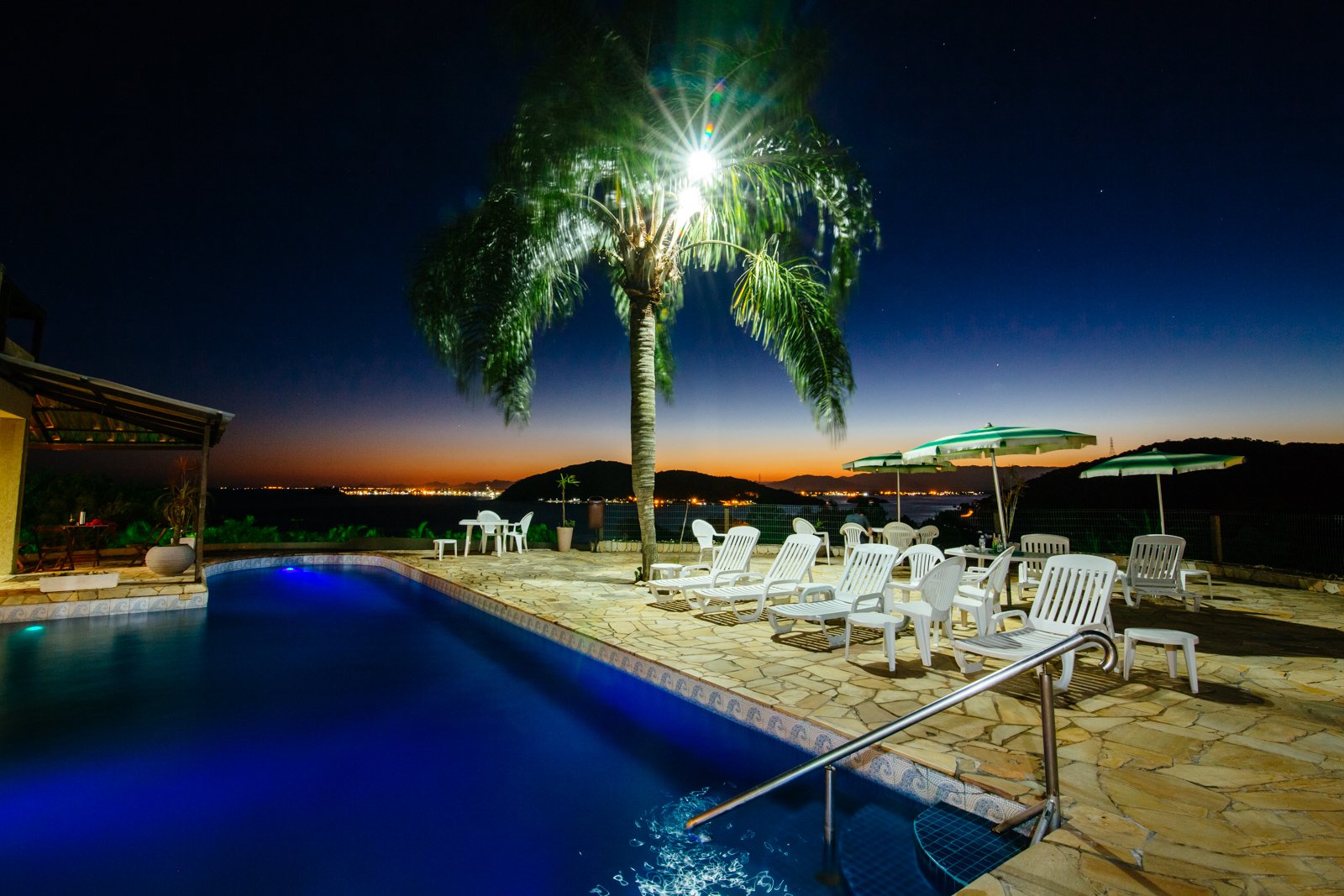 Piscina Hotel Caieiras Noite