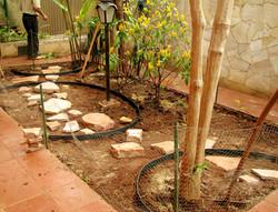 Detalhe do Jardim DURANTE a reforma