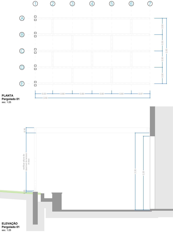 Planta e Elevação da Cobertura 01 | Projeto Executivo
