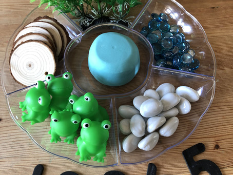 Pre-writers Club: Pond Playdough Tray