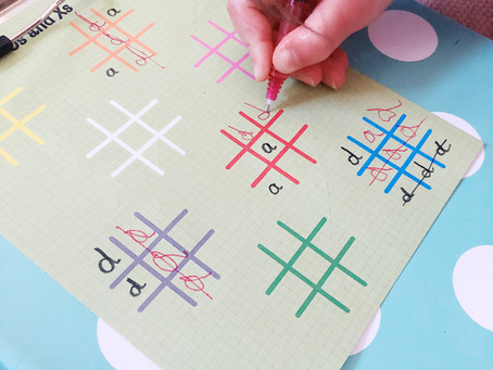 Noughts & Crosses helps with pre-writing shapes & skills, handwriting practice & letter reversals!