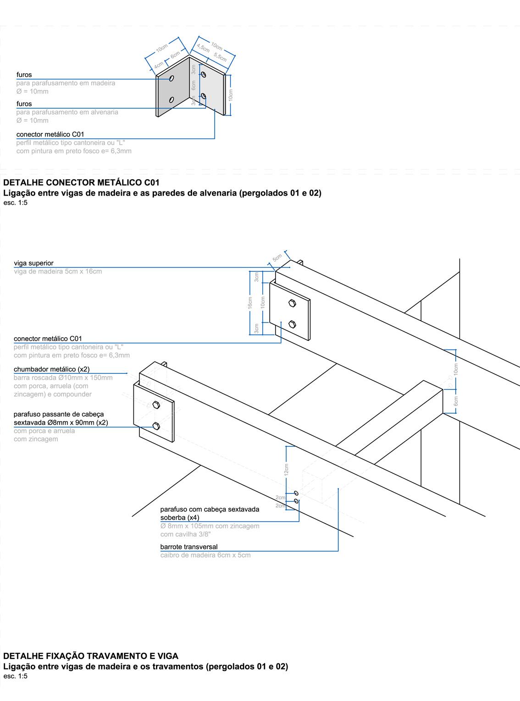 Detalhamento das conexões | Projeto Executivo