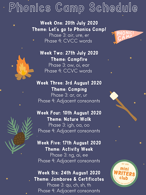6 week Phonics Camp Facebook Group (Reception to Year 1)