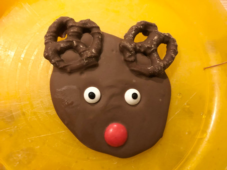 Pre-writers Club: Chocolate Rudolph