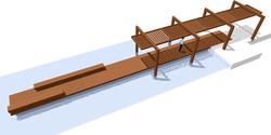 Detalhe do Deck, Pergolado e Estares sobre Lago