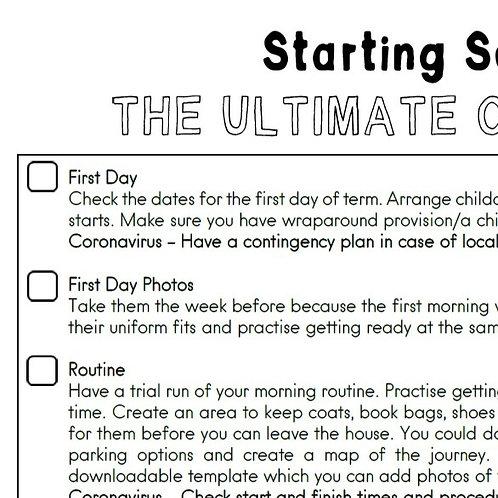 Starting School Checklist & Tip