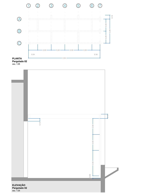 Planta e Elevação da Cobertura 02 | Projeto Executivo
