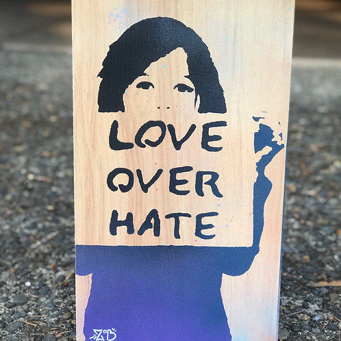 Love over hate side print
