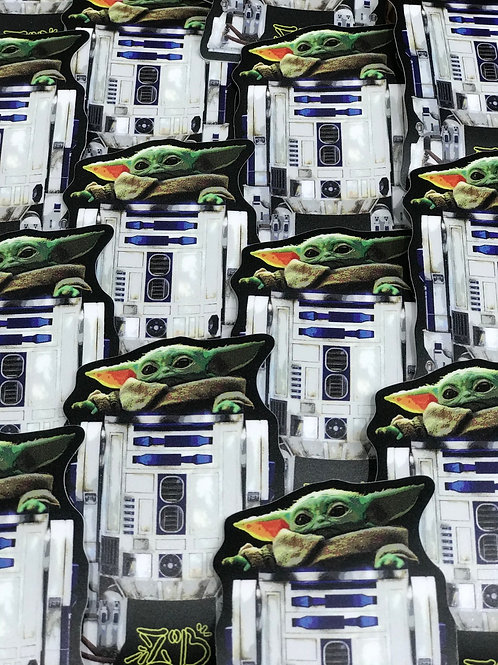 Baby Yoda-D2 sticker