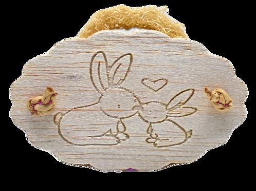 Bunny Kisses Loofah Cookie