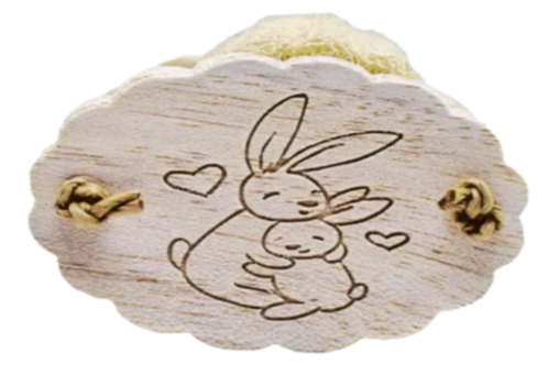 Bunny Hugs Loofah Cookie