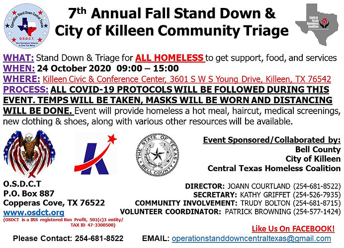 7th ANN FALL STAND DOWN LARGE UPDATE 101