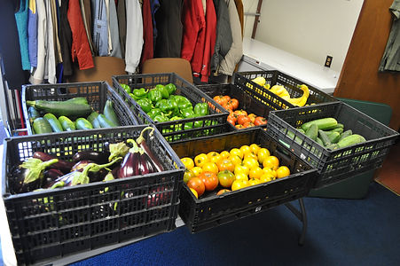 Vegetables from Iowa Gardening for Good at Jefferson Food pantry