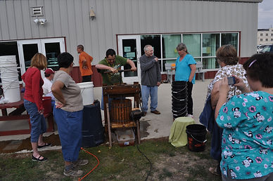 Example volunteer project in Iowa making apple cider