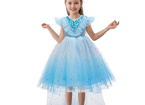 Javababy Children Party Long Blue Dress bx1678