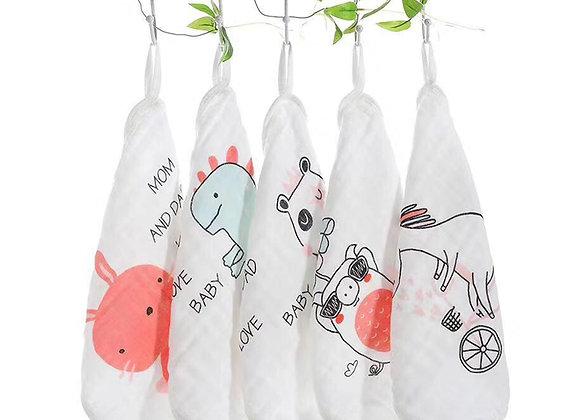 Babycare Colorland Baby handkerchief 100% cotton 4 pieces set