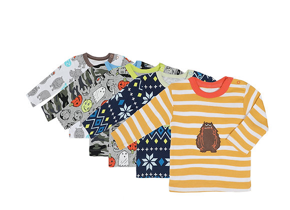 Babycare Colorland Long Sleeve T-shirt 5 Pieces set100% Cotton