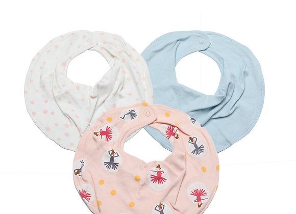 Babycare Colorland Bibs from newborn OEKO-TEX certified (3 pieces set)