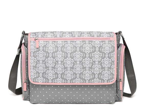 Lirika Large compartment Messenger Baby Changing Bag with Wipe box