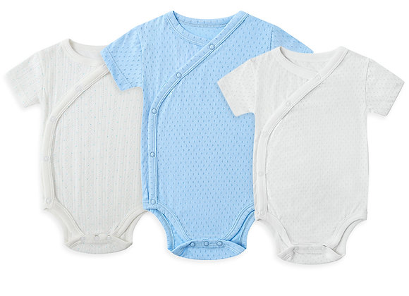 Side-Snap open Short-Sleeve Bodysuits OEKO-TEX certified