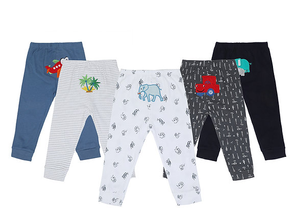 Babycare Colorland Home Pants for Boys and Girls 5 Pieces Set Packed 100% Cotton
