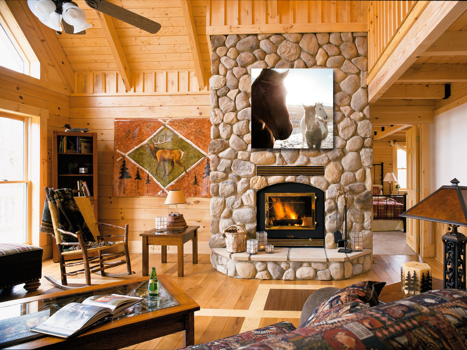 Fireplace Horse Sample