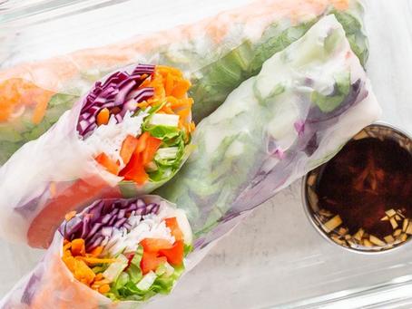 Fresh Spring salad rolls