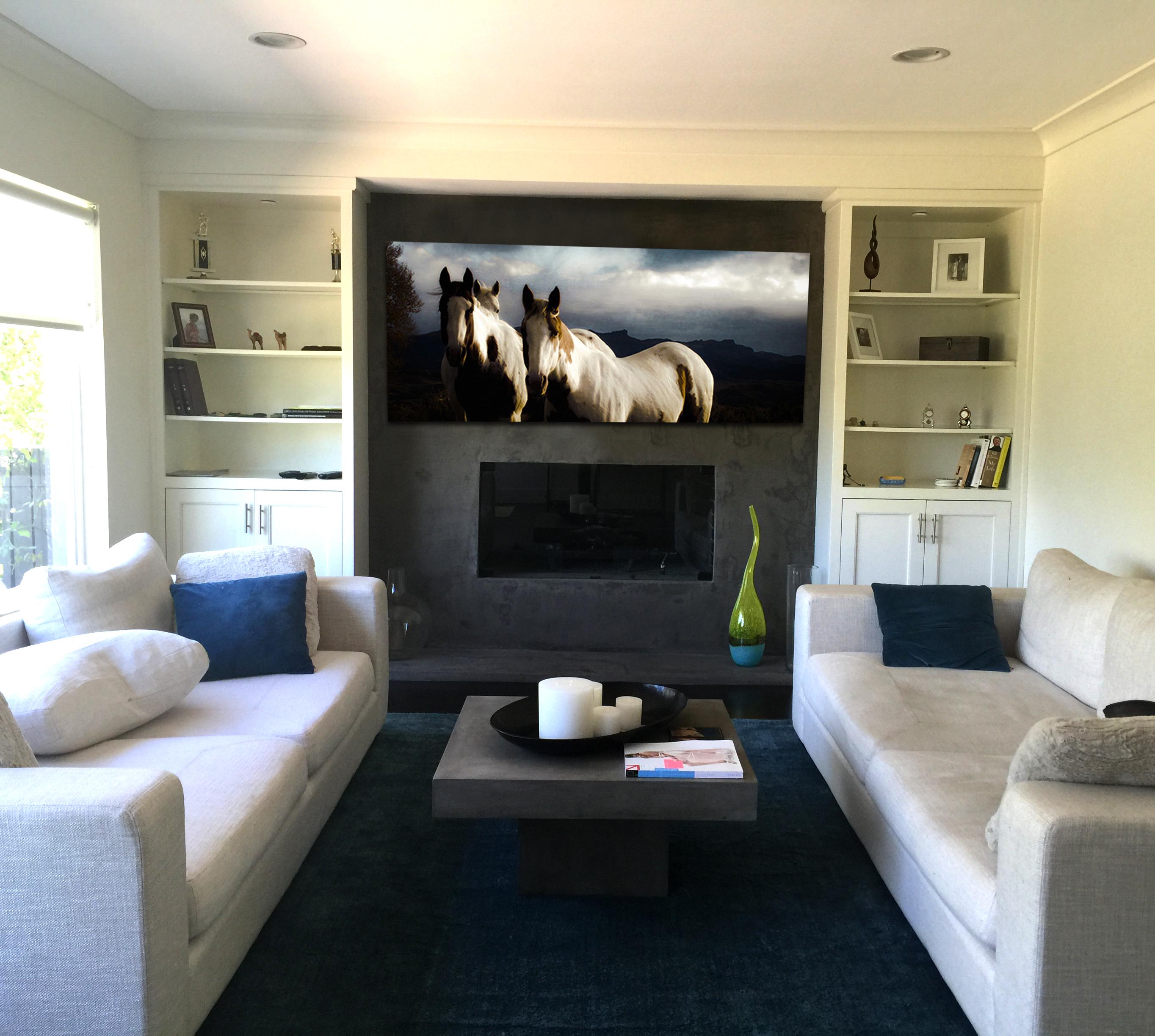 Horse Fireplace Modern