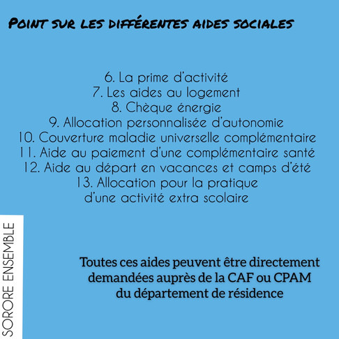 Point sur les différentes aides sociales
