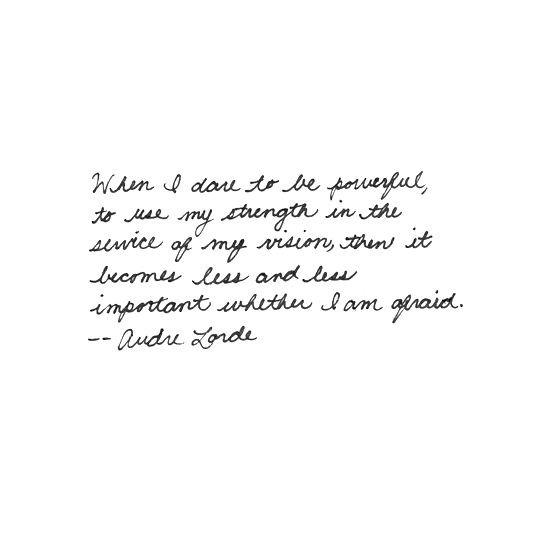 Audre LORDE citation