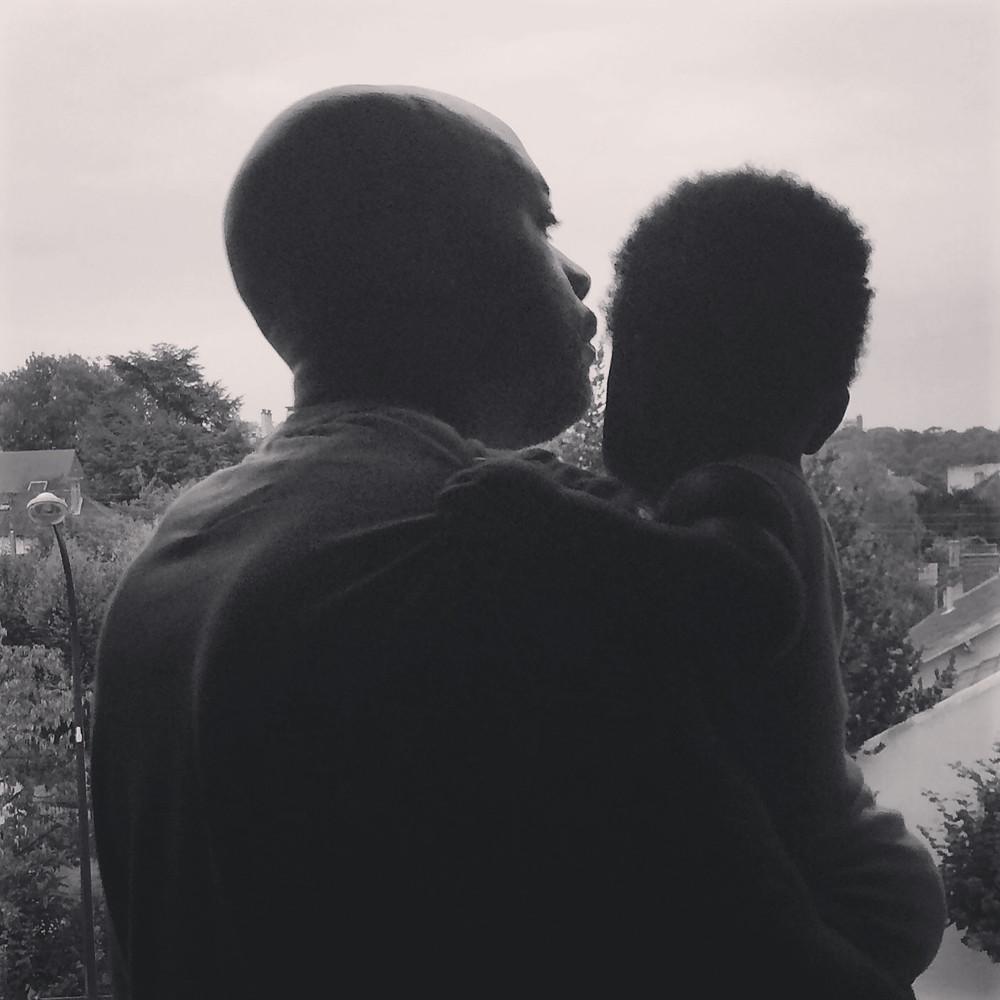 Ma fille et son père le jour de son 1er anniversaire