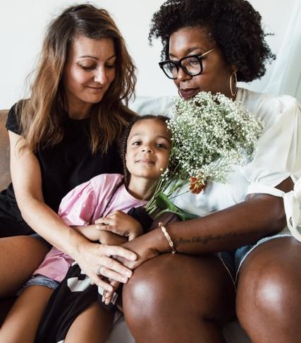 Sandrine, Barbara et Zoé ...