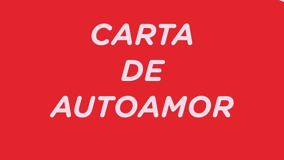 Comprar actividad CARTA DE AUTOAMOR