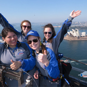 On Sunday we did the Sydney Harbour Bridge Climb!!