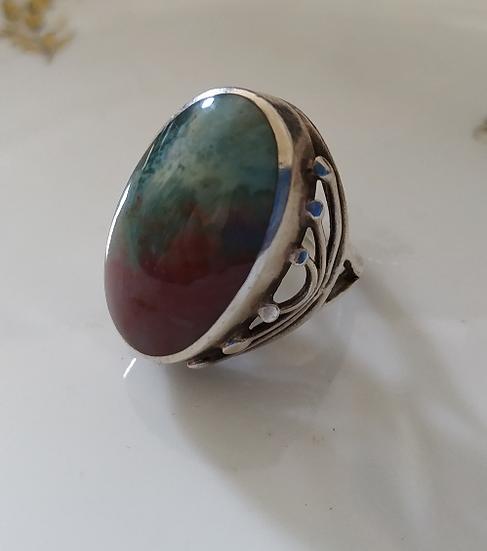 טבעת כסף ובלאדסטון