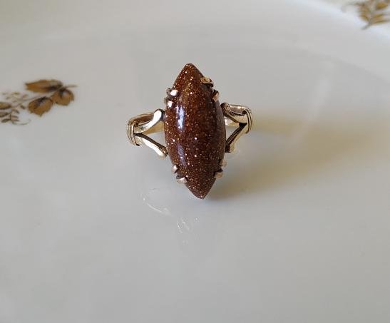 SAND STONE-טבעת זהב ו