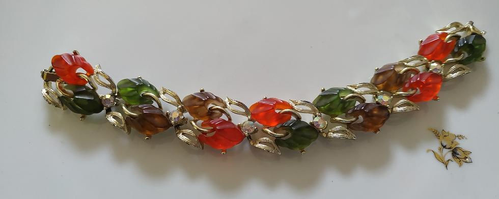 צמיד אבנים צבעוניות