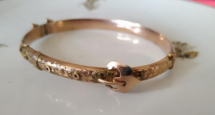 צמיד זהב אדוארדיאני-חגורה