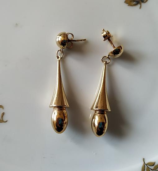 עגילי זהב ארוכים