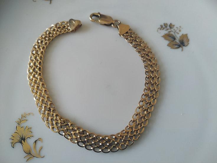 צמיד זהב רשת