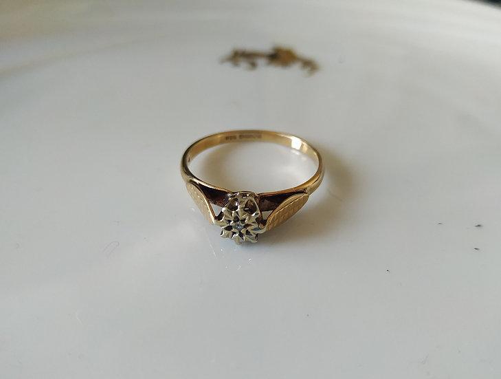 טבעת זהב ודיאמנט