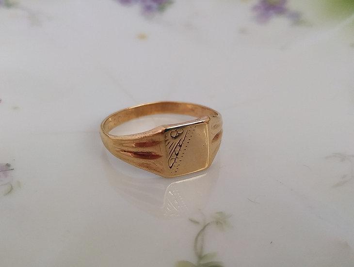 טבעת זהב חותם