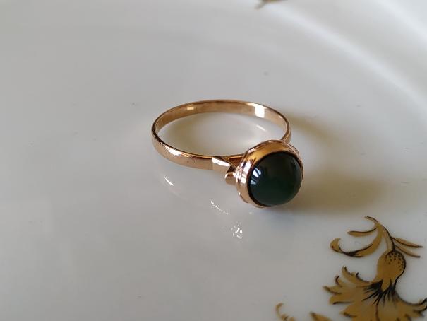 טבעת זהב ואוונטורין