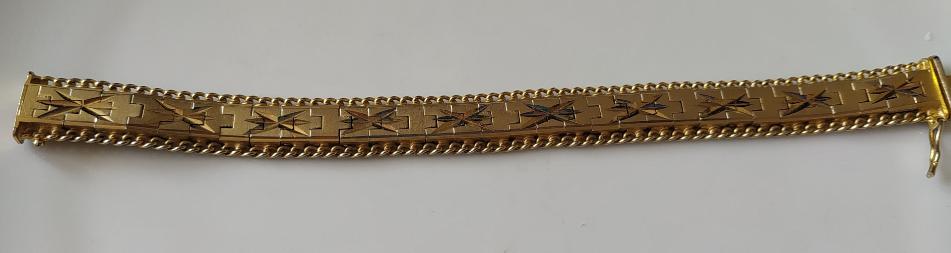 צמיד אופנה מצופה זהב