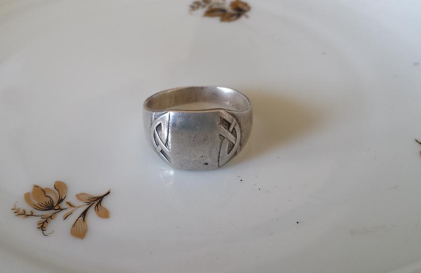 טבעת כסף לגבר