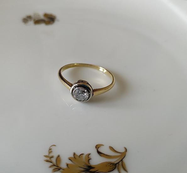 טבעת זהב ויהלום