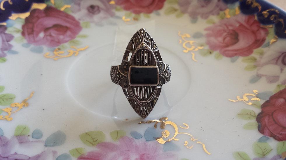 טבעת כסף שקד