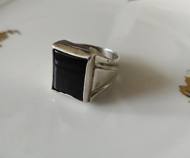 טבעת כסף ואוניקס לגבר