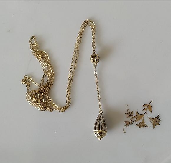 שרשרת זהב עם טיפה